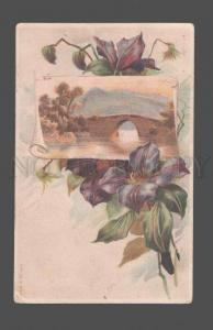 079458 Lovely FLOWERS w/ Landscapes Style KLEIN vintage PC