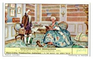 Struensee & Queen Caroline-Mathilde History of Denmark Liebig Belgian Trade Card