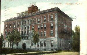 Fairmont WV Cook's Hospital 1907 Used Postcard
