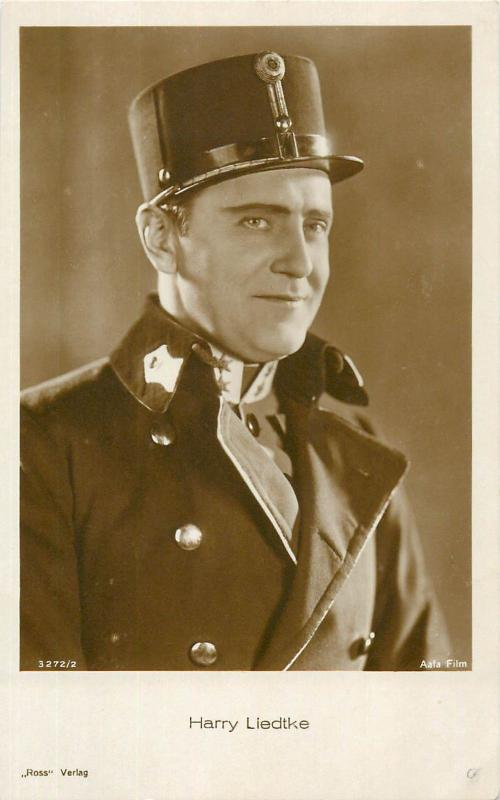 Stage & screen actors postcard cinema film stars history Harry Liedtke Ross PC