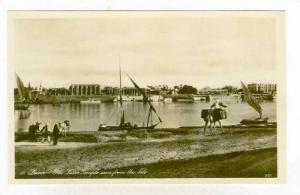 RP, The Luxor Temple Seen From The Nile, Sailboats, Luxor, Egypt, Africa, 192...