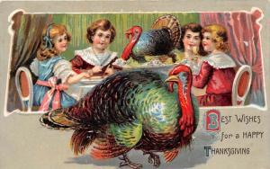 917 Thanksgiving  Children at dinner table