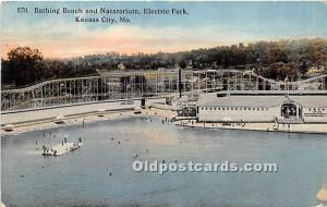 Bathing Beach and Natatorium Electric Park Kansas City, Missouri, MO, USA 191...