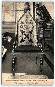 Postcard NJ Shrewsbury The Bishop's Chair Property of Christ Church D6