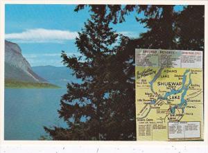 Canada British Columbia Shuswap Lake With Map