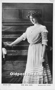 Miss Zena Dare Theater Actor / Actress Postal Used Unknown