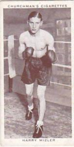 Churchman Vintage Cigarette Card Boxing Personalities No 30 Harry Mizler