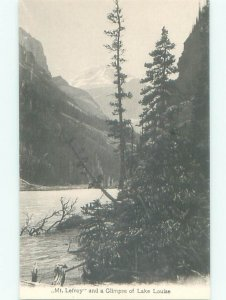 Divided-back LAKE SCENE Lake Louise Alberta AB AE4854