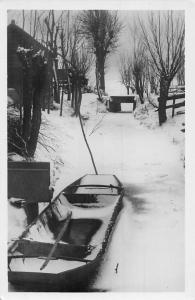 Netherlands Winter, Van der Horst te 's-Gravenhage in Holland, Echte Foto