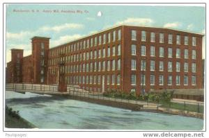 Amory Mill, Amoskeag Mfg. Co. Manchester New Hampshire NH, Divided Back