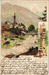 CPA AK Ramsau - Ansicht - Alter Bildstock bei Ramsau - Litho GERMANY (1065374)