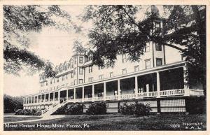 Mt Pocono Pennsylvania Mount Pleasant House Street View Antique Postcard K69269