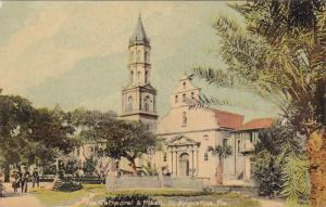 ST. AUGUSTINE, Florida, 1900-1910's; The Cathedral And Plaza