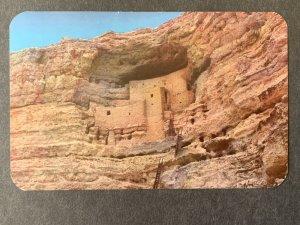 The Castle In A Cliff Montezuma Castle AZ Chrome Postcard H1173085700