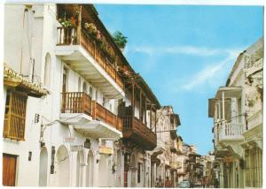 CARTAGENA, Colombia, Old Streets and Colonials balconies, unused Postcard