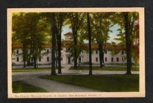 NB Chipman Hospital ST STEPHEN NEW BRUNSWICK Postcard