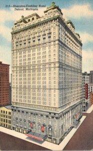 Michigan Detroit Sheraton-Cadillac Hotel 1957 Curteich