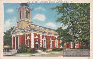Saint Johns Methodist Church Anderson South Carolina