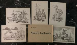 Mint Czechoslovakia Dupal 5 Picture Postcard Collection Anti Nazi 1946 Original