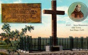 California San Diego Old Town Serra Monument Curteich
