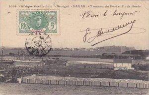 Senegal Dakar Travaux du Port et Ile de Goree 1910