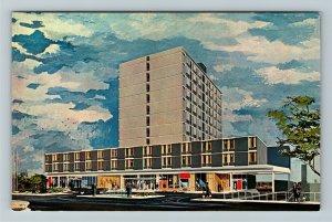 Akron OH- Ohio, Akron Tower Motor Inn, Advertising, Panoramic ChromePostcard