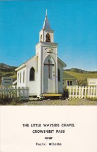 Near FRANK, Alberta, Canada, 1940-1960's; The Little Wayside Chapel, Crownest...