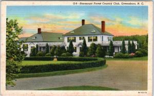 GREENSBORO, North Carolina  NC   STARMOUNT FOREST COUNTRY CLUB c1940s   Postcard