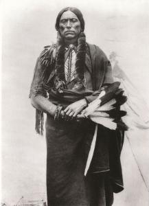 Quanah Parker - Comanche - Indian circa 1875 Western USA - Recent Print