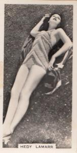 Hedy Lamarr Hollywood Actress Rare Real Photo Cigarette Card