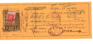 1934 Canadian Bank of Commerce, Cheque with Postage Stamp, Souris P.E.I.