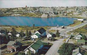 Bird´s-eye View of Ross Lake, Community, and Mine, Flin Flon, Manitoba, Cana...
