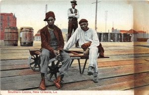 G20/ Black Americana Postcard Comic c1910 Southern Coons Workers 2