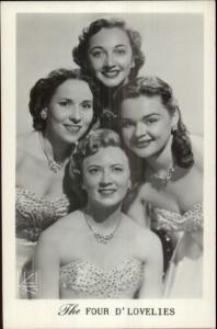 Beautiful Women Actresses Four D'Lovelies Promo New York City Derr Swisher