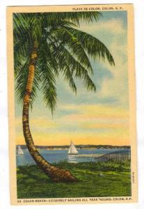 Colon Beach, Leisurely sailing all year 'round, Republic of Panama, 30-40s
