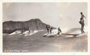 RP:  Surf Riding , WAIKIKI , Hawaii , 1930-40s