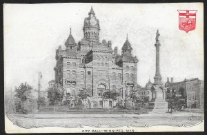 City Hall Winnipeg CANADA Used c1908
