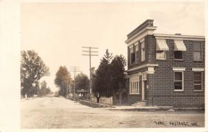 Oostburg State Bank WI~$25,000 Capital~Pinstripe Awning~Ice Cream Shop~RPPC 1914