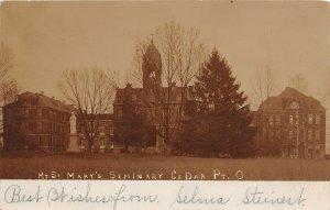 KB9/ Cedar Point Ohio RPPC Postcard Mt Washington Ellenora St Marys Seminary