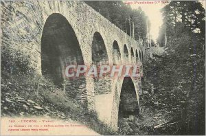Old Postcard Luchon Pyrenees The Viaduct Railway has Cremaillere