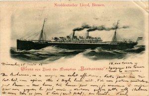 CPA AK Dampfer BARBAROSSA Norddeutscher Lloyd, Bremen SHIPS (704165)