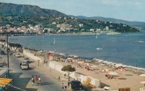 Le Lavandou Mistral Photo Sign Aerial France French Beach 1970s Postcard