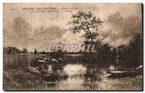 Old Postcard Musee Du Louvre French School Jules Dupre L Etang