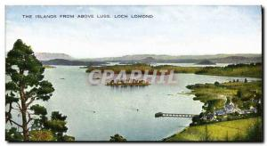 Old Postcard The Islands From Above Luss Loch Lomond