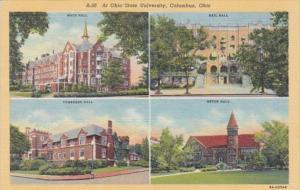 Ohio Columbus Mace Neil Pomerene and Orton Halls Ohio State University Curteich