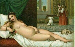 Postcard Antique Risque, Nude Picture of Venere Coricata           Q7