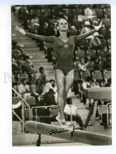 250956 GYMNASTICS GDR Winer Olympic Games Karin Janz Old photo