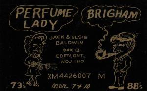 EDEN , Ontario , 50-60s ; QSL Radio Postcard