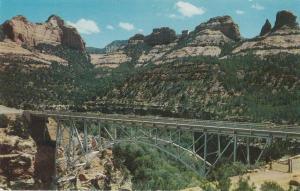 Midgley Bridge Oak Creek Canyon Arizona Bridge Postcard Scene