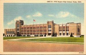 Oklahoma Tulsa Will Rogers High School 1947 Curteich